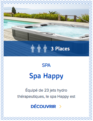 Mondial Spa Happy 3 places