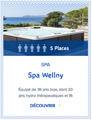 Mondial Spa Wellny 5 places